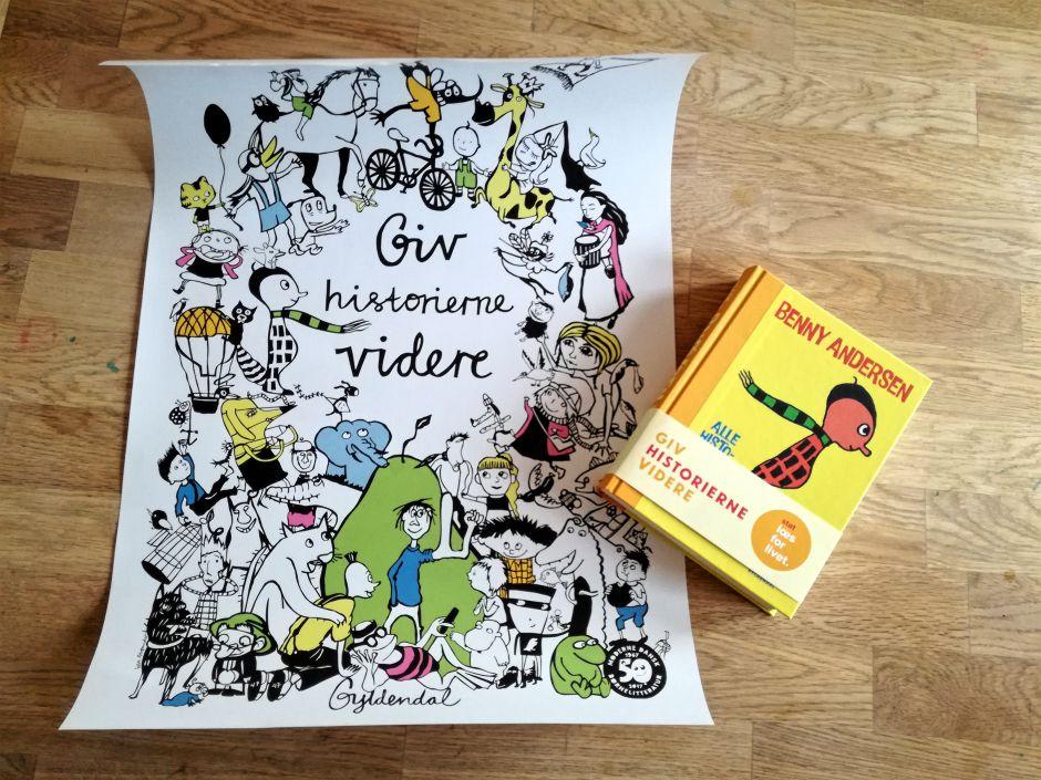 Plakat fra Giv historierne videre kampagnen og Snøvsen