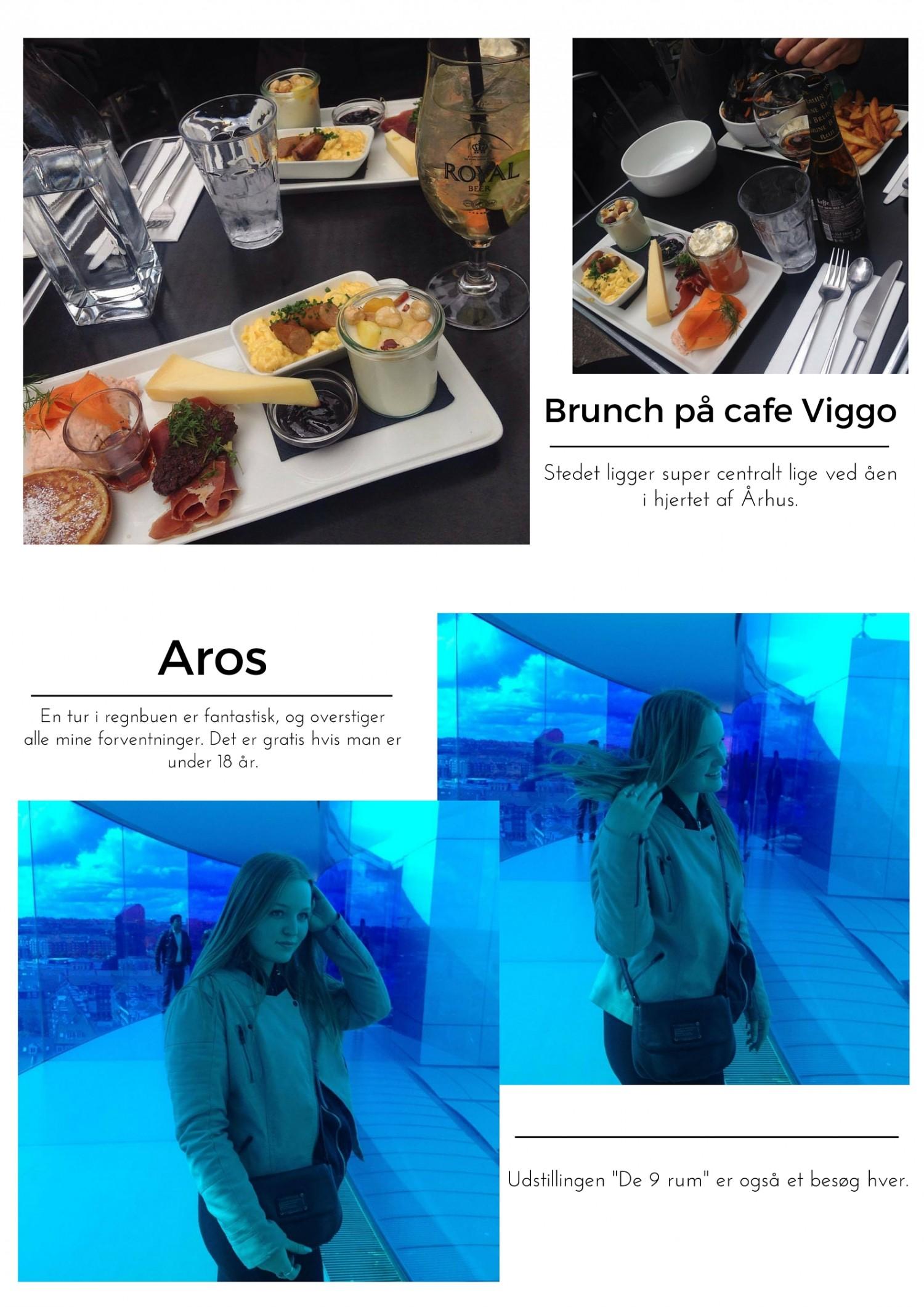 Brunch på Cafe Viggo. Stedet lægger super centralt lige ved åen i hjertet af Århus