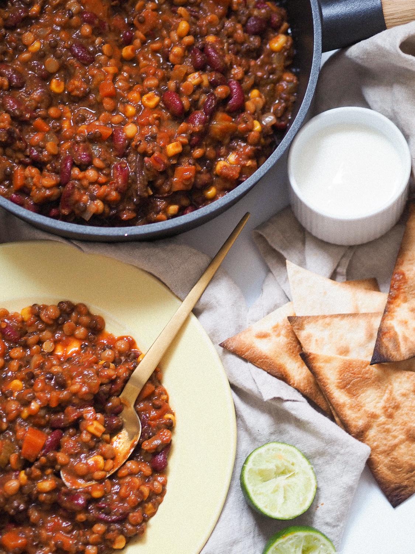Chili sin carne opskrift