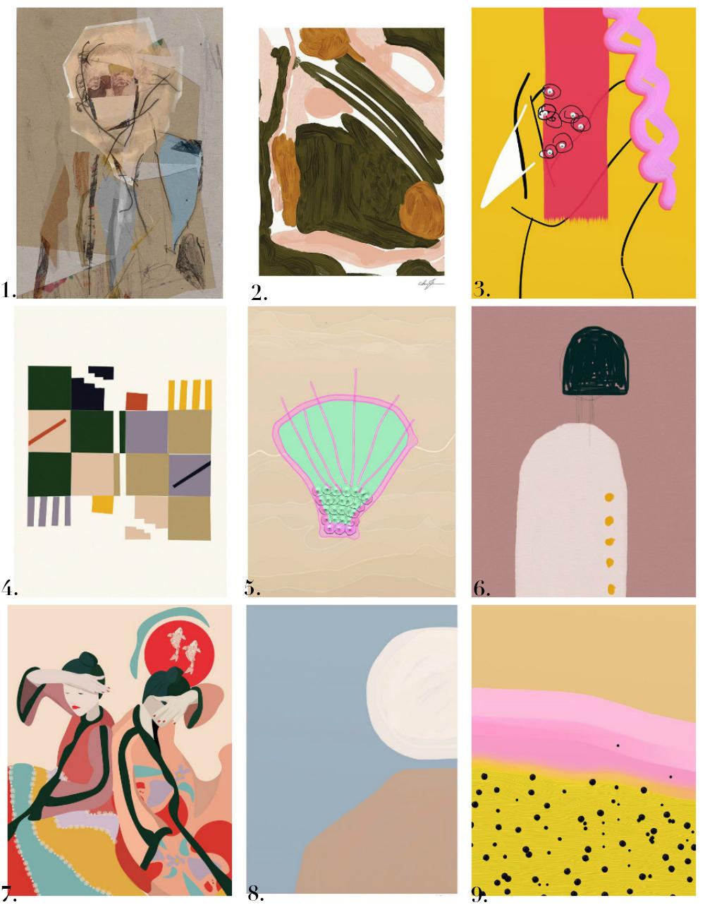 kunstneristiske plakater