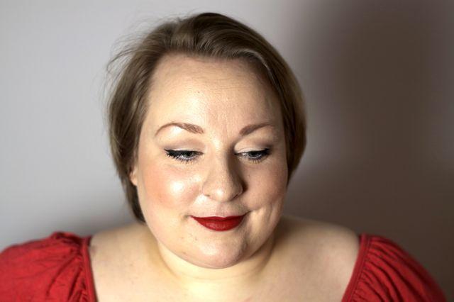 Diva look med røde læber