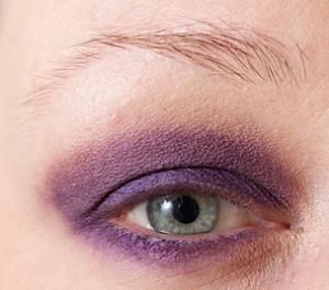 Look: Lilla og glitter, med pigment