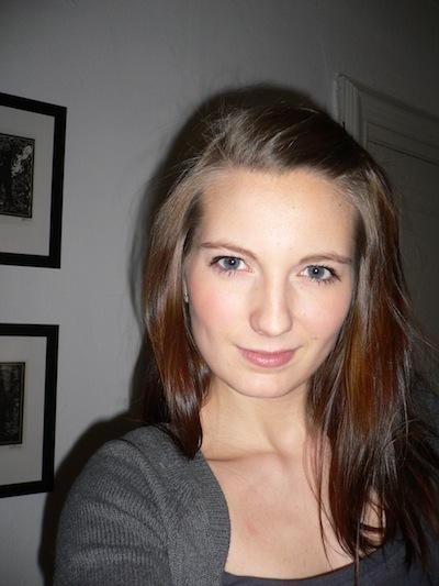 Pia før hårfarvning