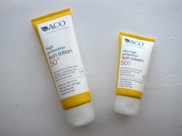 ACO Solcreme High Protection Sun Lotion 50 SPF og Very High Protection Sun Cream 50+ SPF