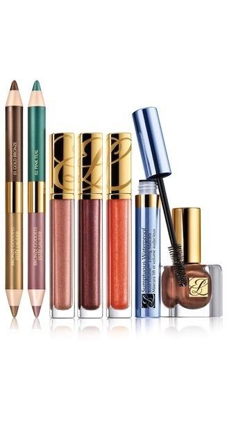 Estée Lauder Bronze Goddess lipgloss, shadowsticks, mascara og neglelak
