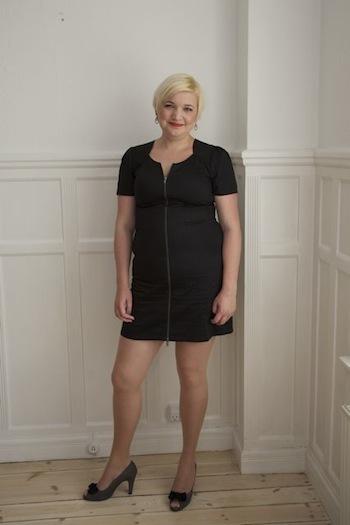 Katja i Birna kjole til Danish Beauty Award