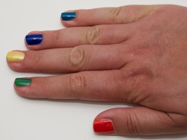 Oh My Gosh 006 Orange Red, 007 Apple Green, 008 Bright Yellow, 009 Cobalt Blue, 010 Turquoise Blue