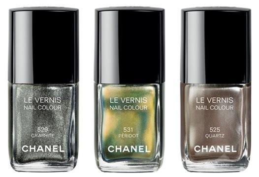 Chanel efterår 2011 neglelakker Peridot, Graphite og Quartz