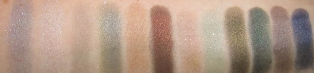 MAC Semi-Precious Mineralize Eyeshadows swatches