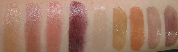 MAC Semi-Precious Lipstick og Cremesheen Glass swatches