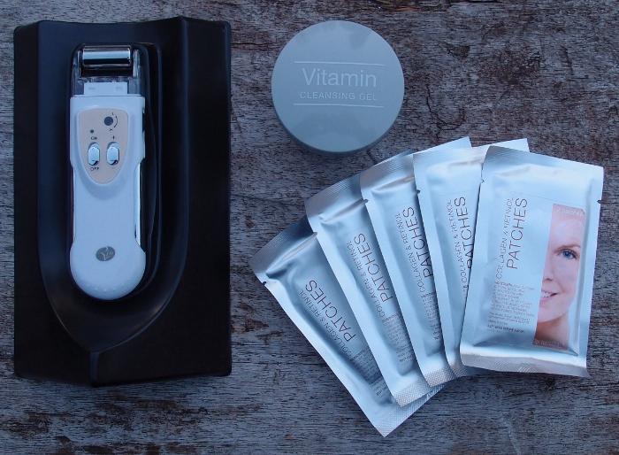Rio Galvanic Wand, Vitamin Clensing Gel og Collagen & Retinol Patches