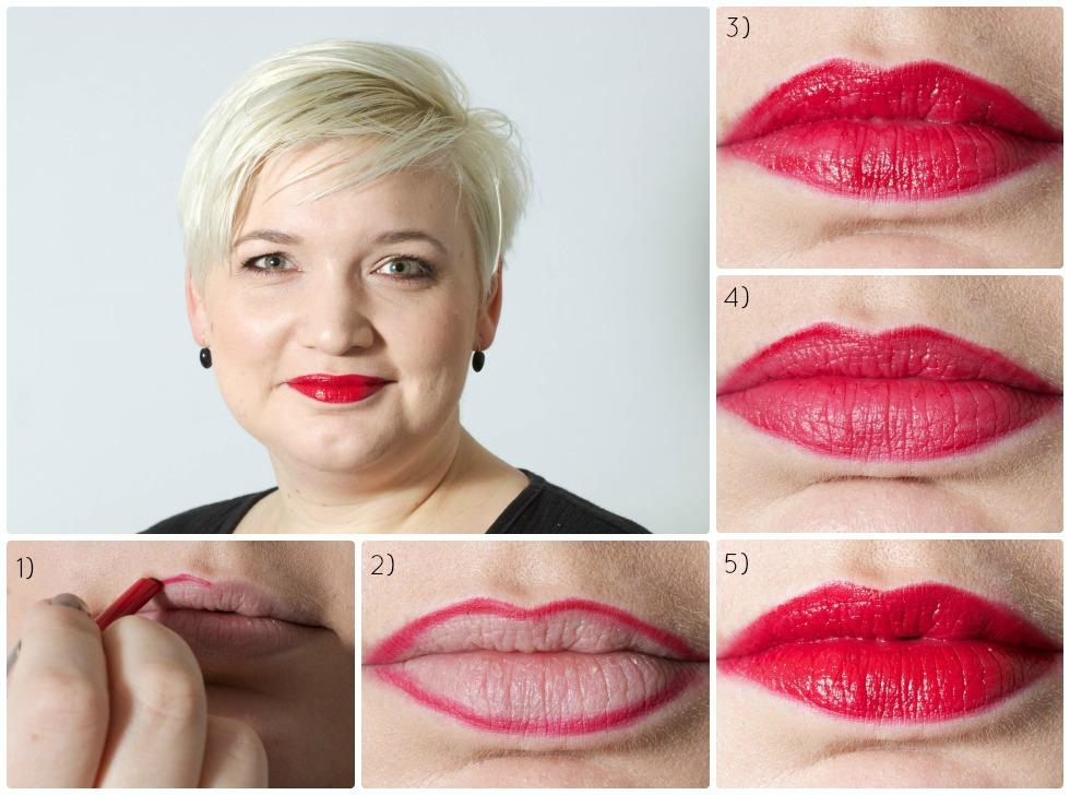Sådan lægger du rød læbestift