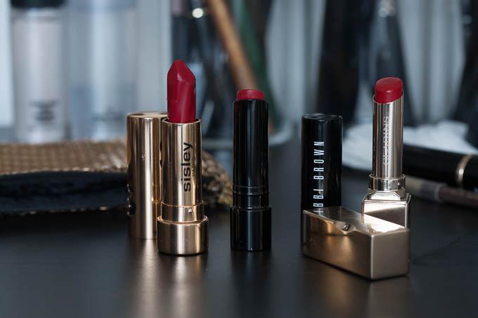 Røbe læbestifter fra Sisley, Clarins og Bobbi Brown
