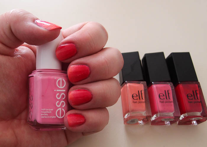 Pink gradient manicure