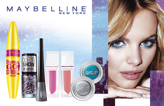 Maybelline New Year's look