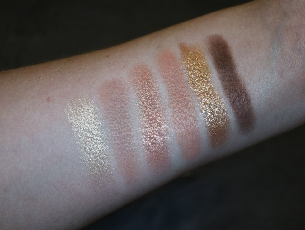 Maybelline Gigi Hadid Warm Eyeshadow Palette swatch