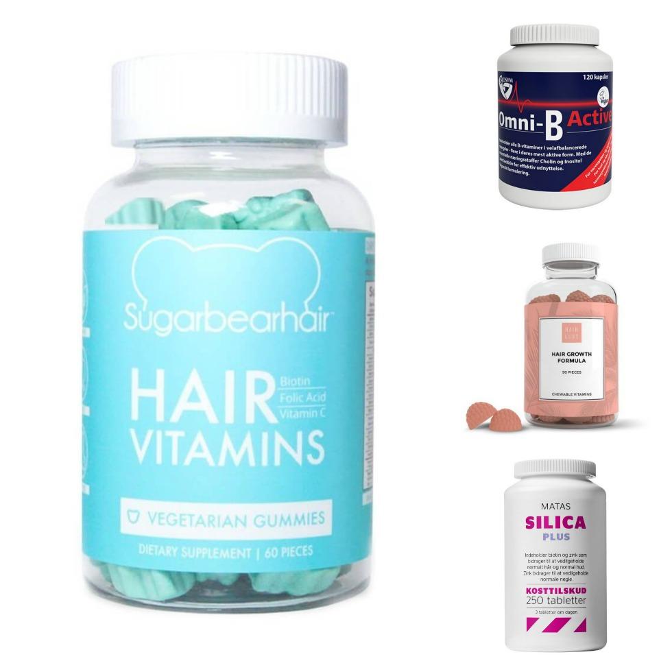 vitamin hår hud