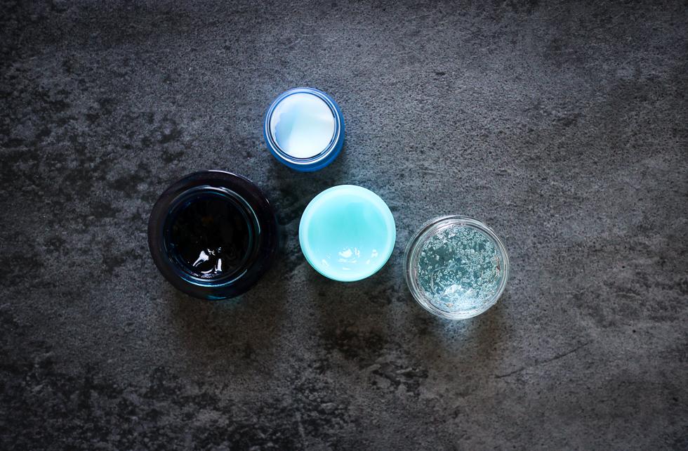 Blå gelé