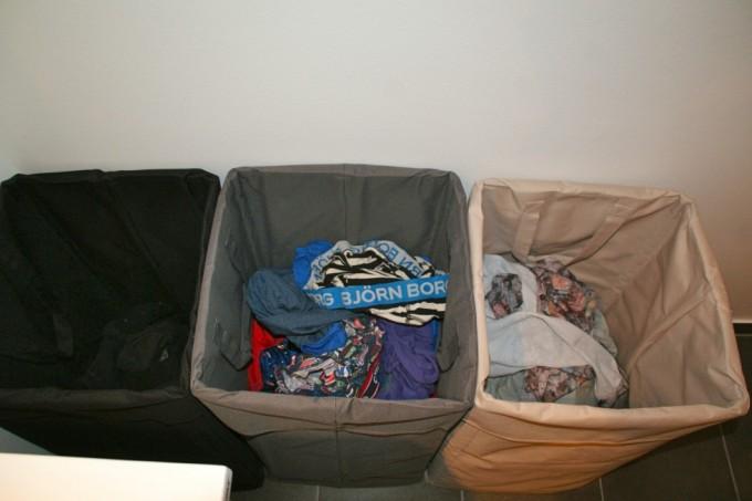 Tøjet er sorteret