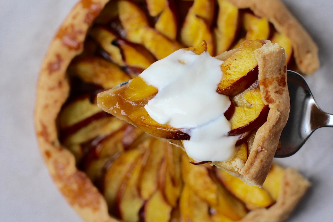 sund og hurtig nektarin tærte2