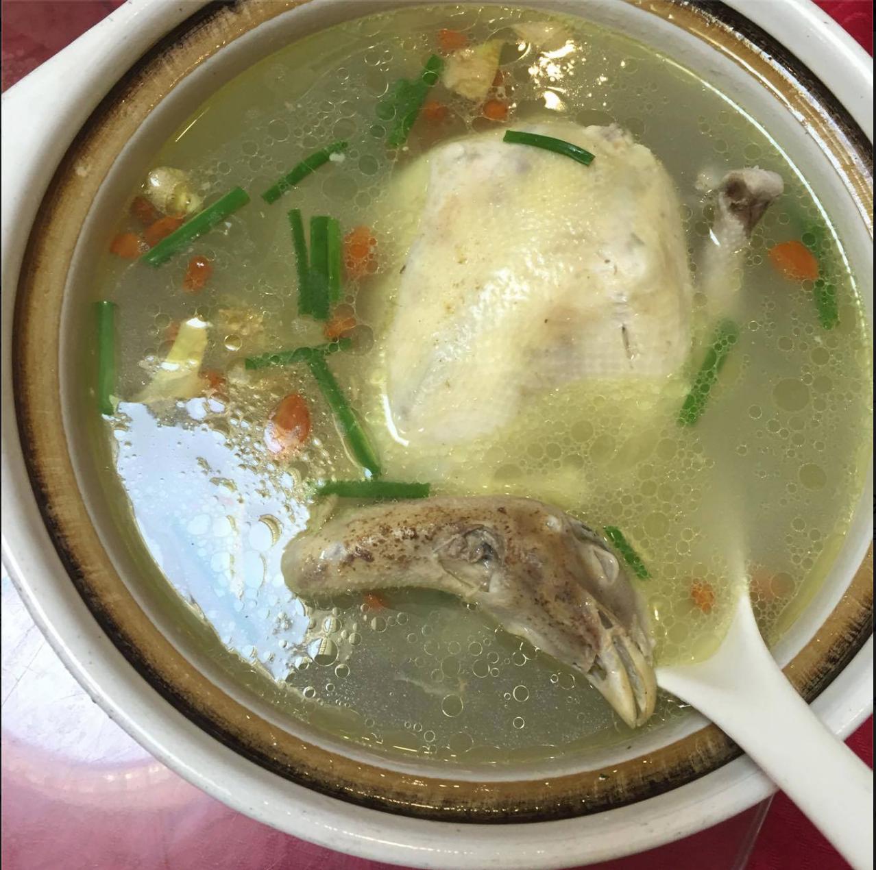 Mit lækre første måltid i Kina. Gæt et dyr haha