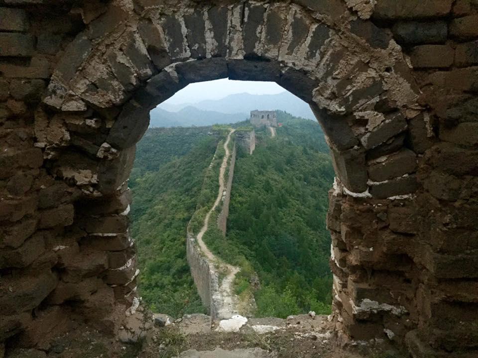 Udsigten over Den Kinesiske Mur fra vores vindue :-)
