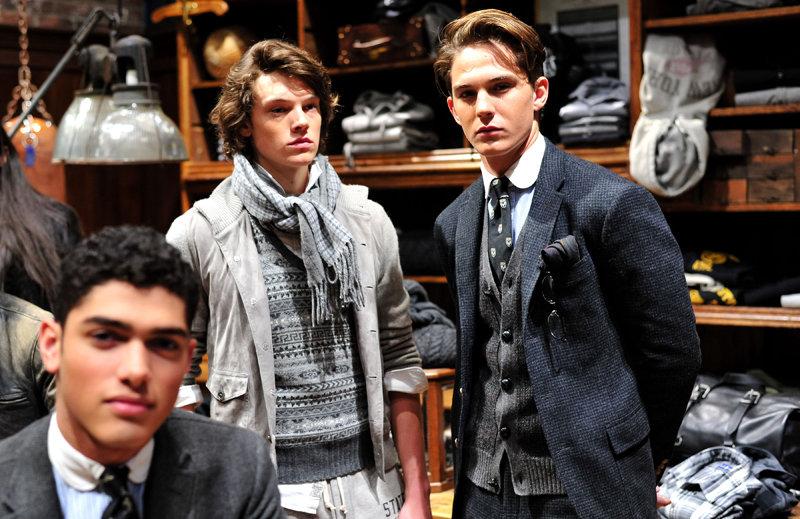 Mandatory Credit: Photo by Joe Schildhorn/BFA/REX/Shutterstock (5586381cn) Models in presentation Polo presentation, Fall Winter 2016, New York Fashion Week, America - 12 Feb 2016