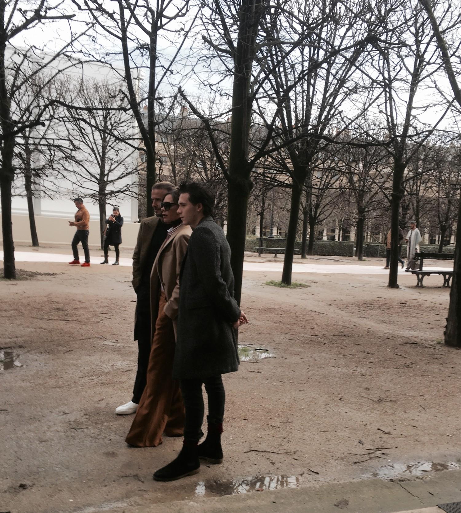 Også Victoria og Brooklyn var med i Paris