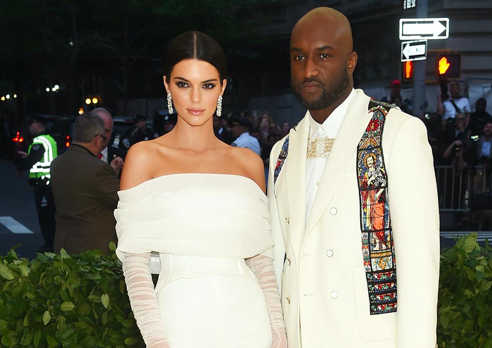 Kendall Jenner og Virgil Abloh v. Met Gala 2018