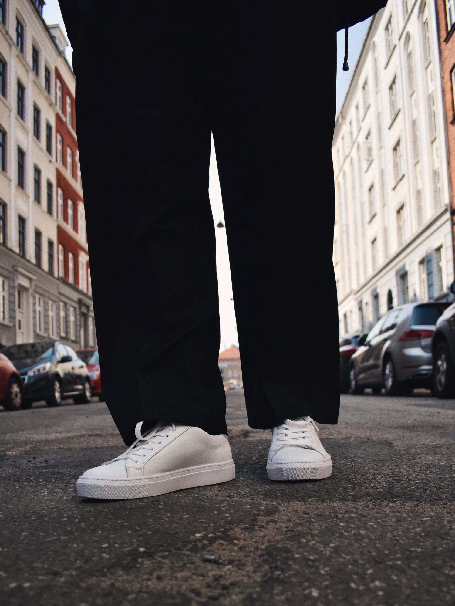 garment project white sneakers