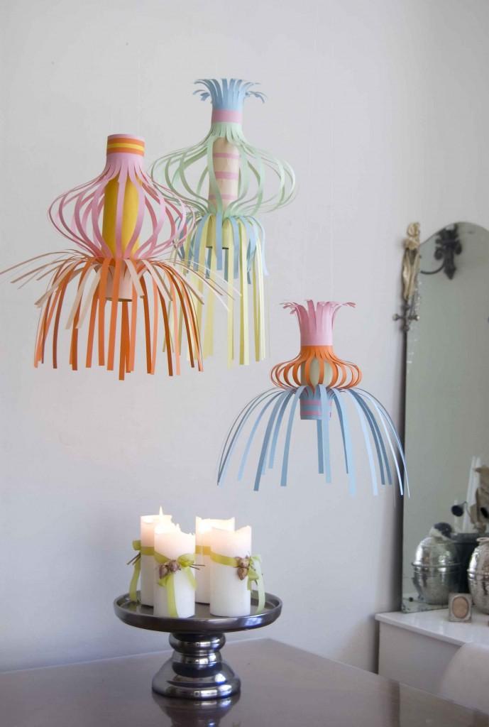 paper lanterns, peekaboo