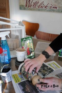 rul avisen rundt om potmakeren.