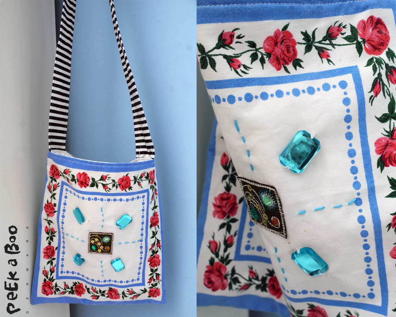 DIY taske lavet af stof servietter