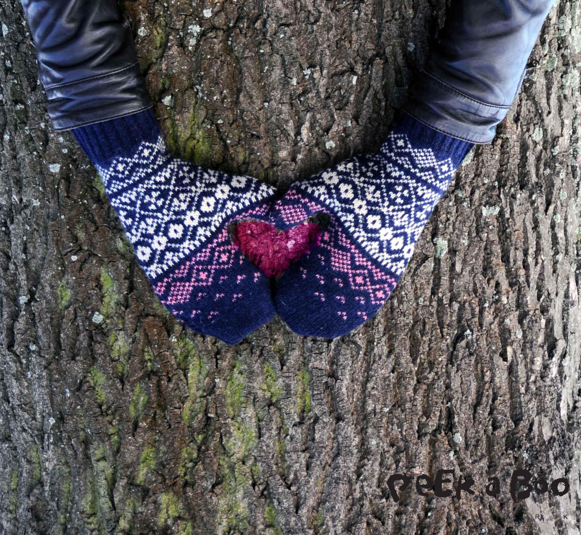 Lufferne er lavet af en gammel sweater.