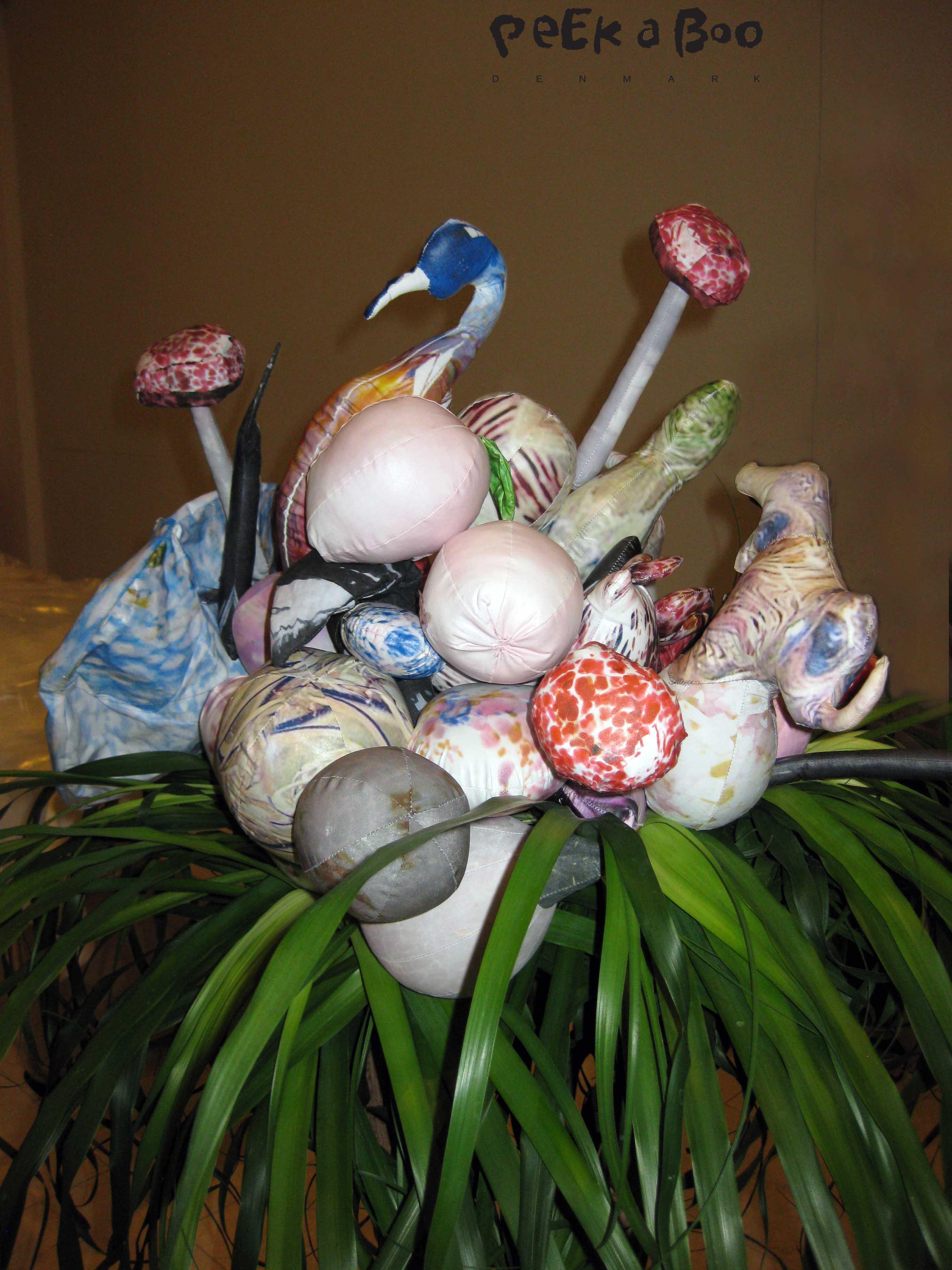 Helle Mardahl's kunstneriske blomster dekoration der mødte os til eventet.