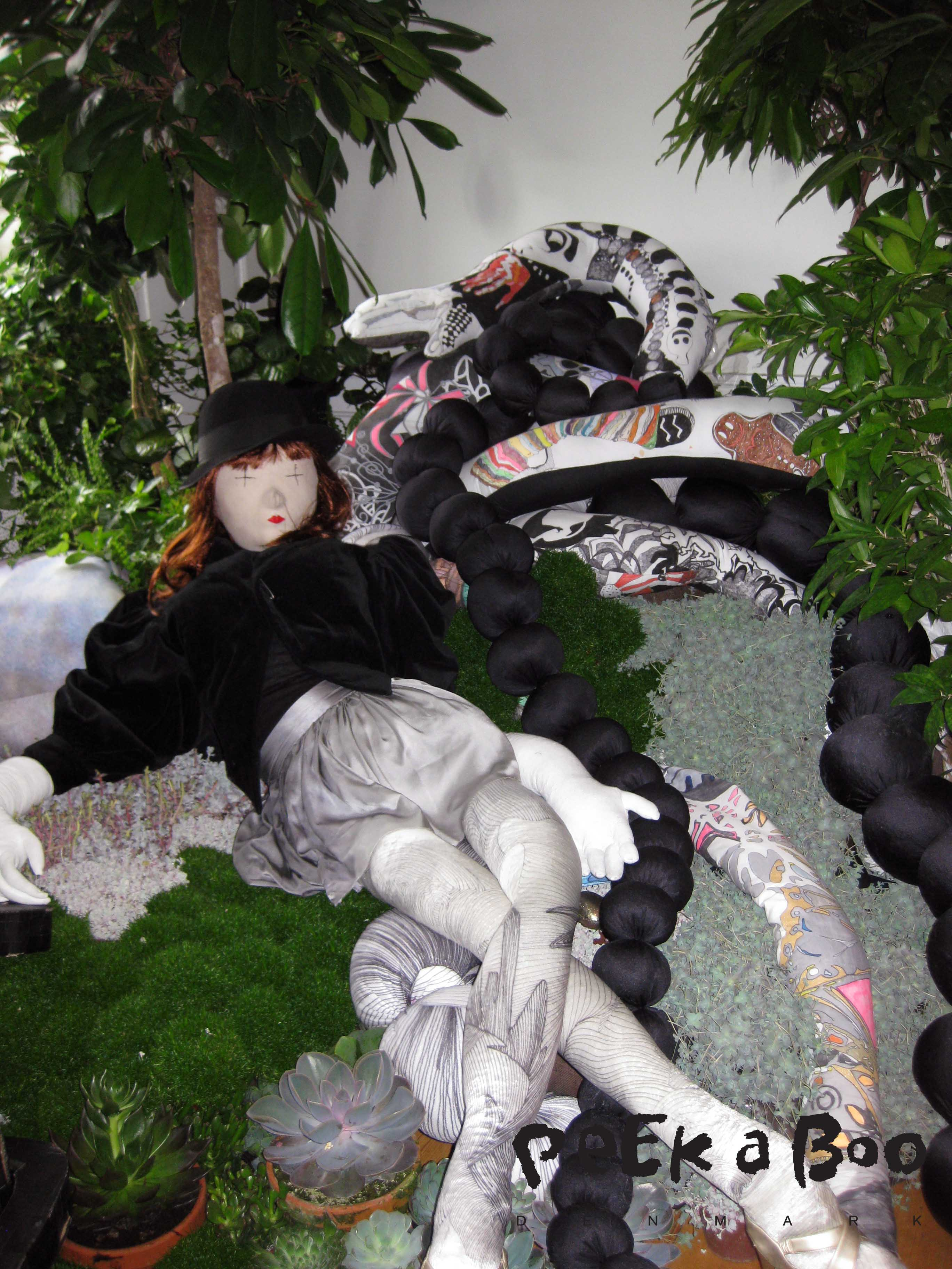 Helle Mardahl's installation i blomster
