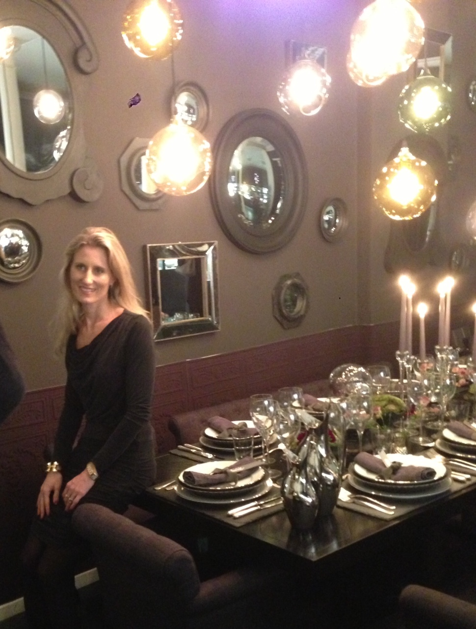 Julie Brandt Dam havde dækket det ene af bordene i år hos Royal Copenhagen.