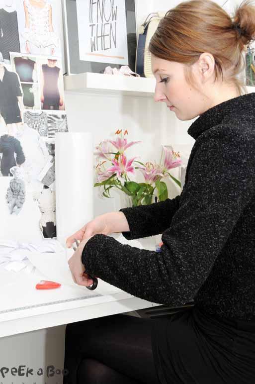 Signe Lykkemark arbejder påcollection, hendes AW14, der skal vises første gang i modeugen.