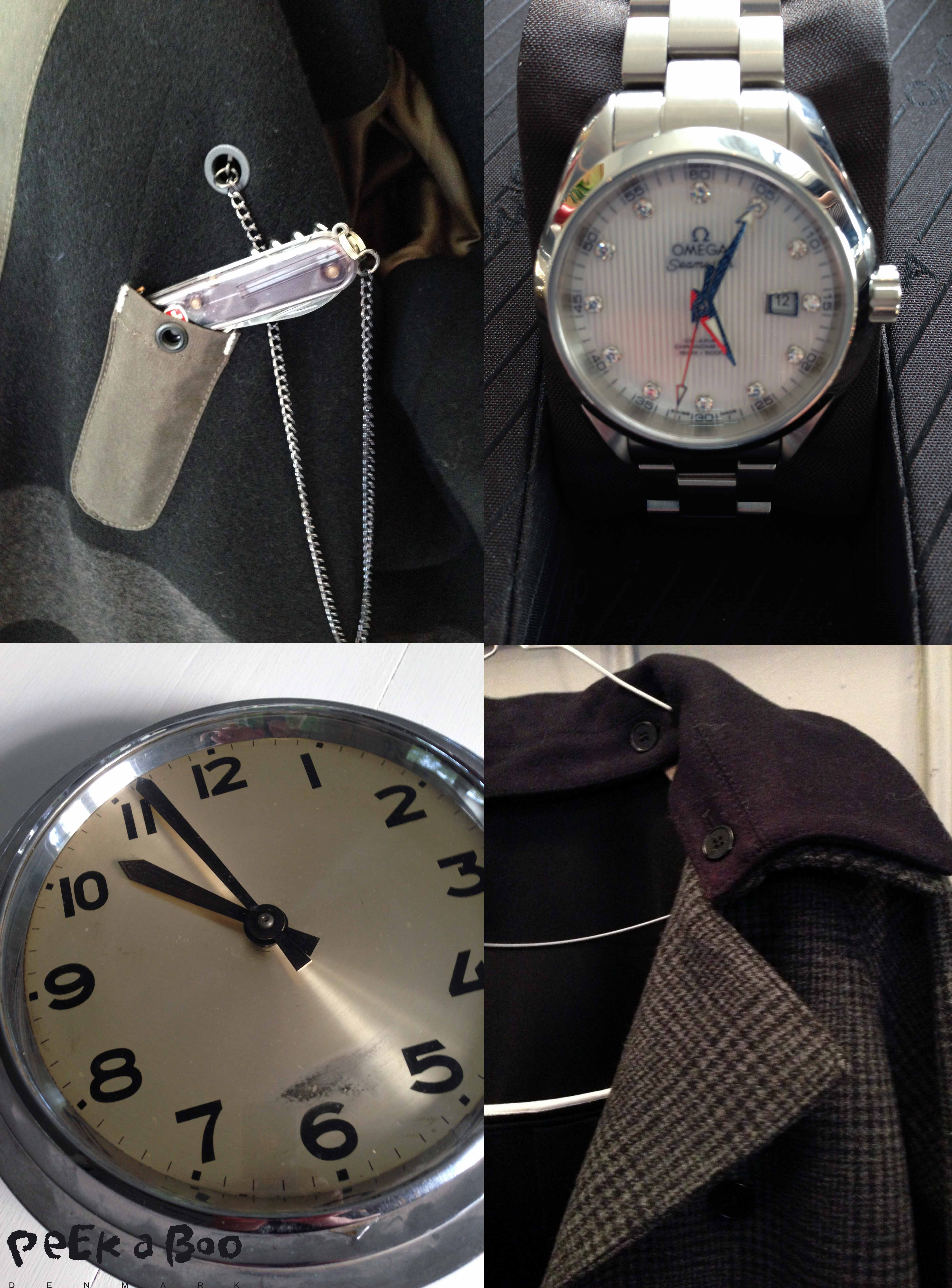 Strellson inside details of outerwear aw14, Omega seamaster for women aw14, vintage wallclock noname, gant female jacket aw14.