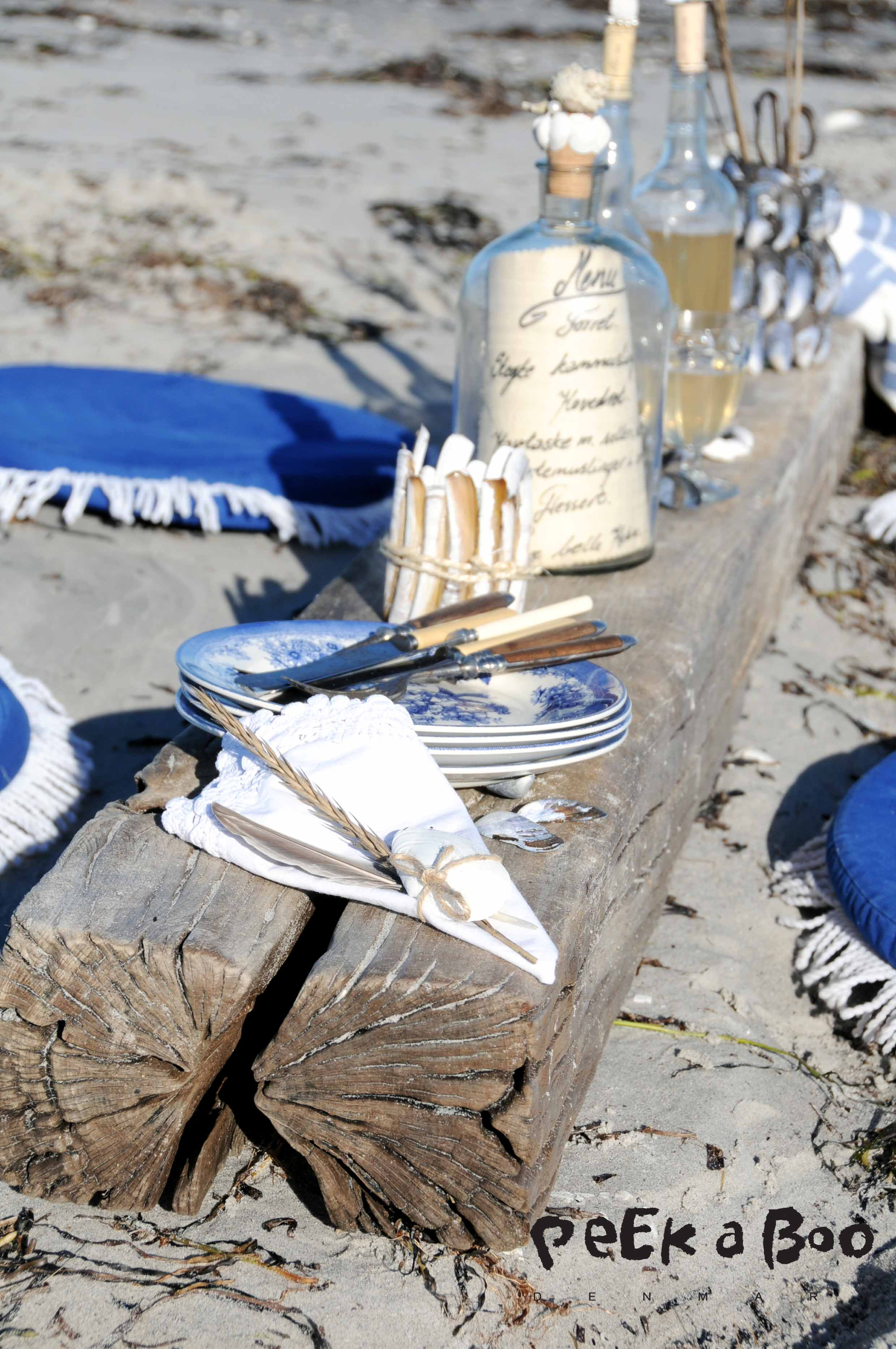 Beach party with lots of DIY ideas for cool decor by Peekaboo design.