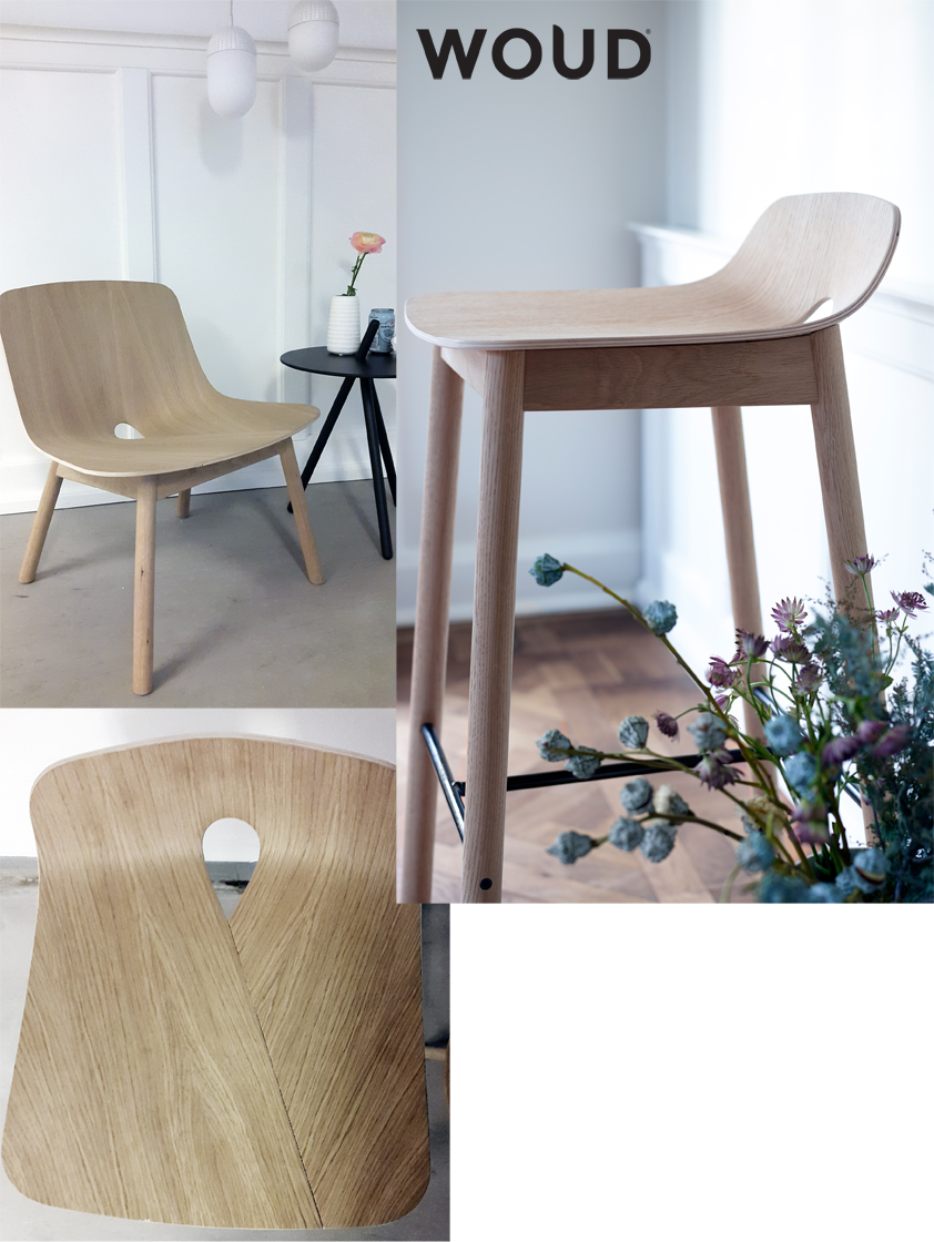 Mono barstool designed by Kasper Nyman for Woud design