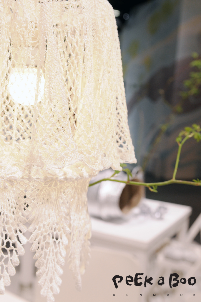 DIY project at the Creative World 2015. Turn your crochet napkin into a lampshade. DIY project at the Creative World 2015. Turn your crochet napkin into a lampshade.