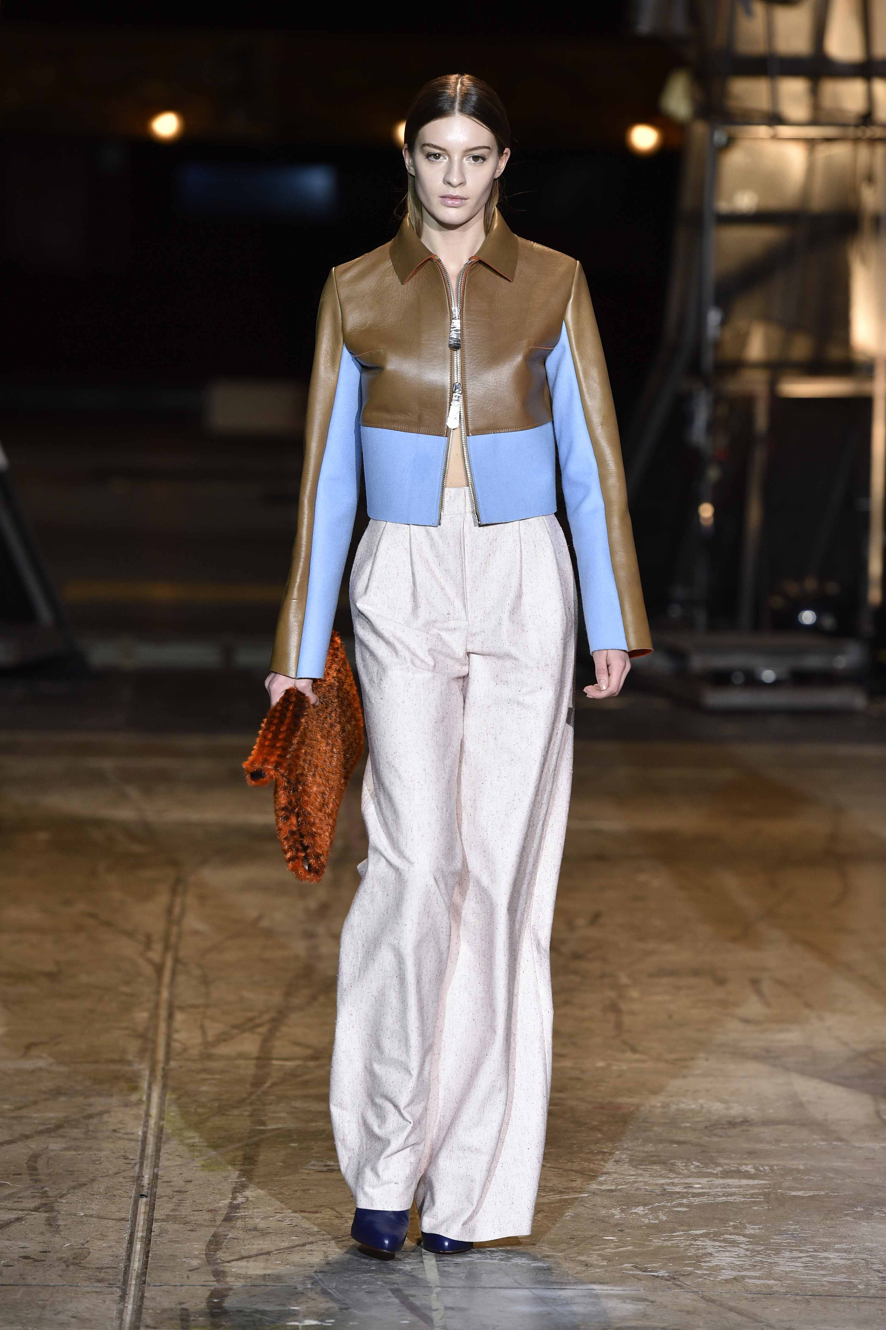 Here shows Mark Tan how he mixes the pastel colours and structured fabrics. Photo credits to Copenhagen Fashion Week.