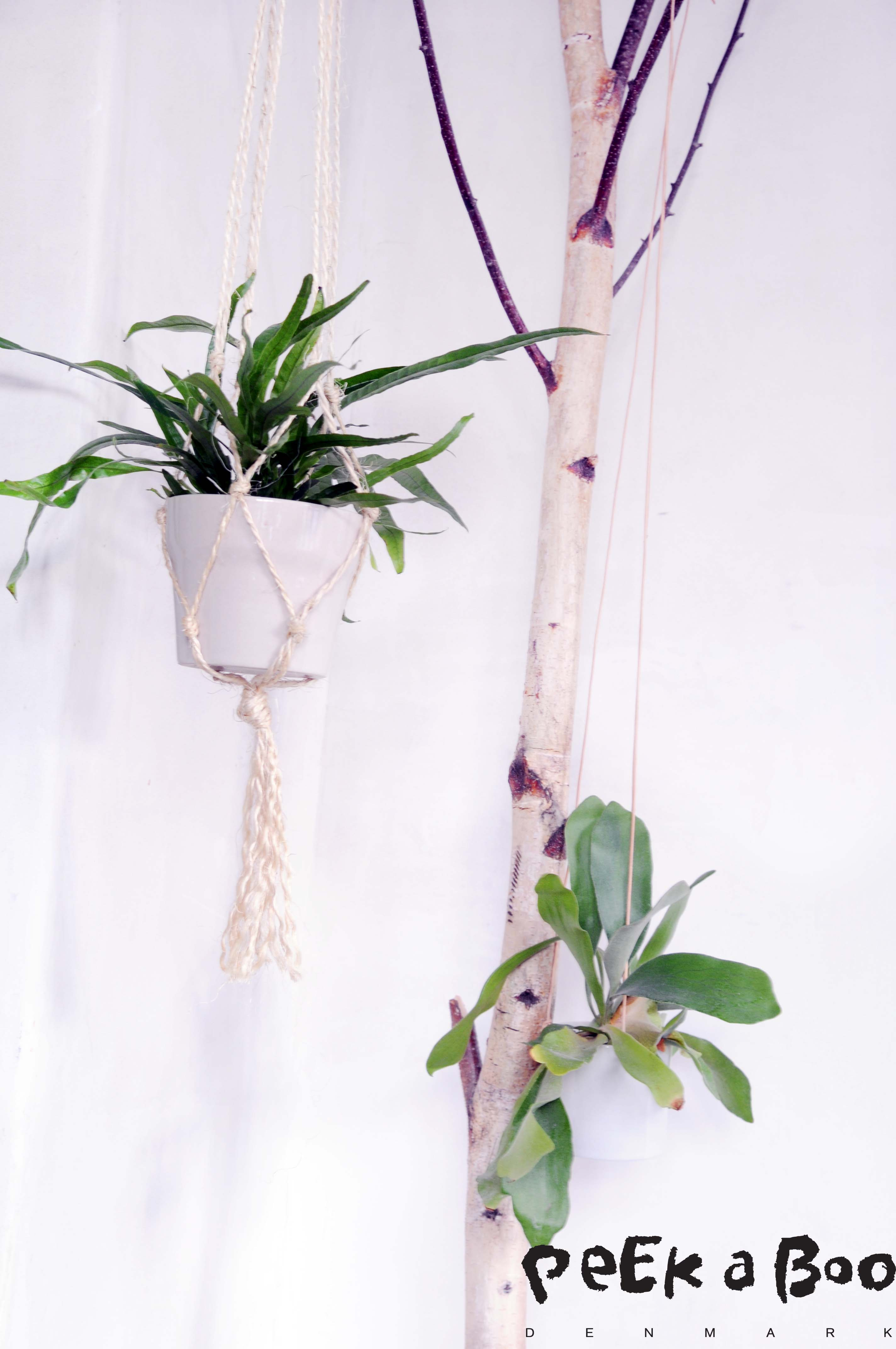 DIY net for your hanging pots.