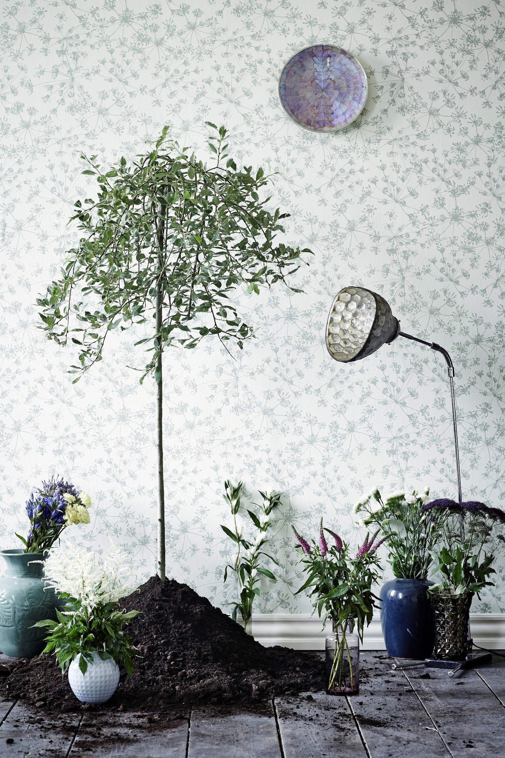 "Here is ""parsley"" from the wallpaper Collection Botanic Garden from Flügger. Designed by Helene Blanche."