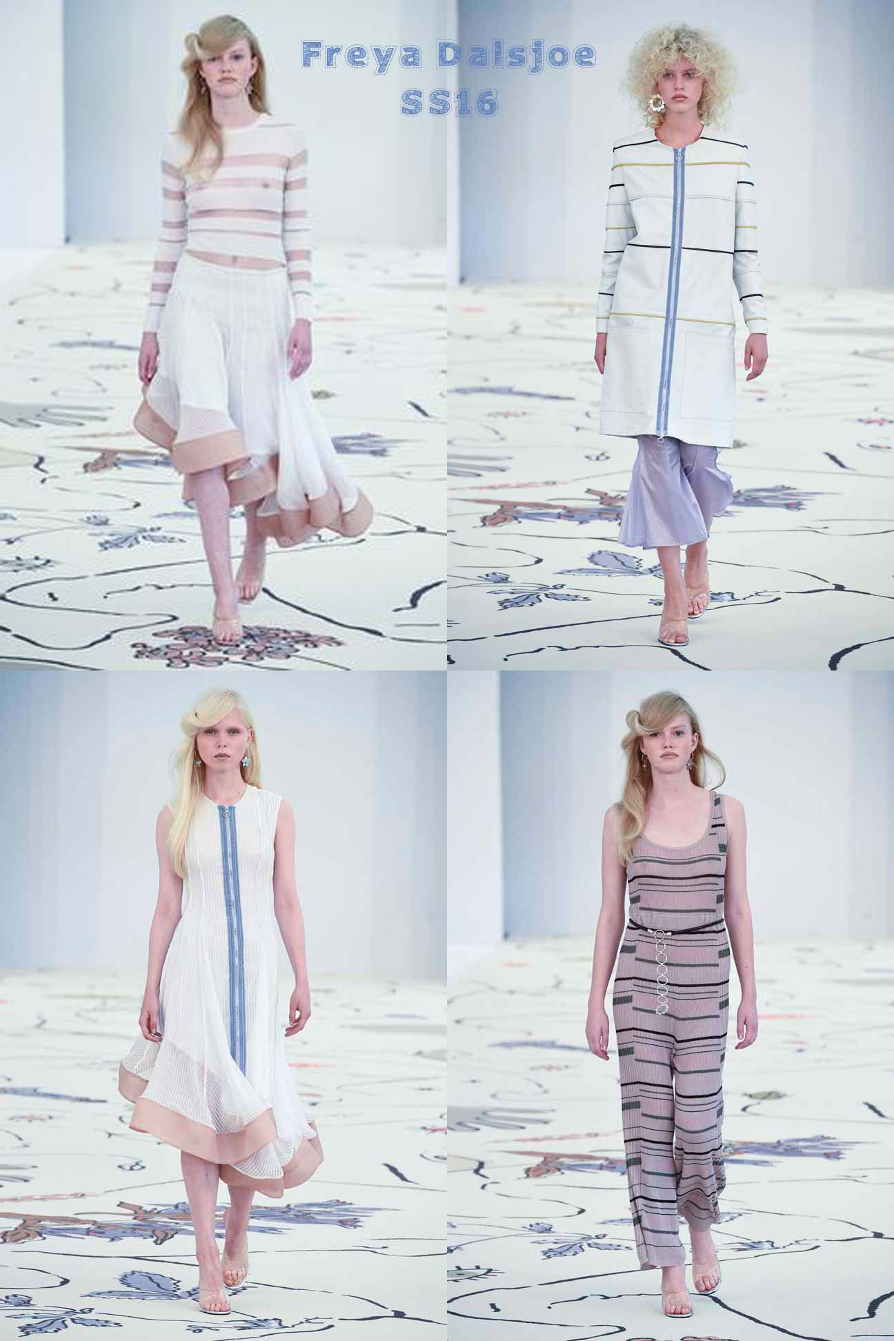 Freya Dalsjoe showed a delicate SS16 Collection at Copenhagen fashion week.