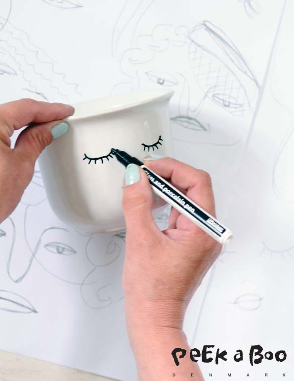 Draw your face on the pot.