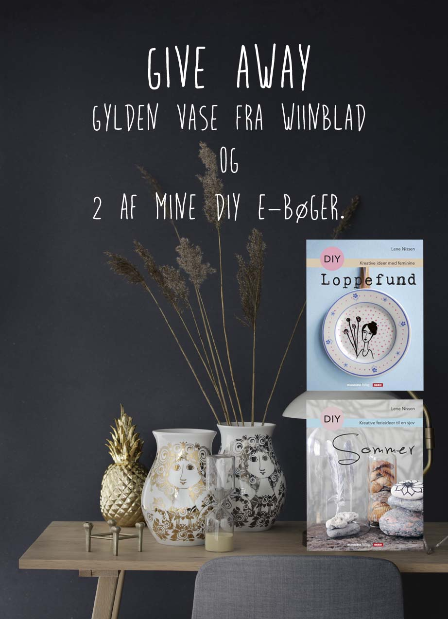 Give away...Beautiful Bjorn Wiinblad vase with gold or silver print and two of my DIY e-books.