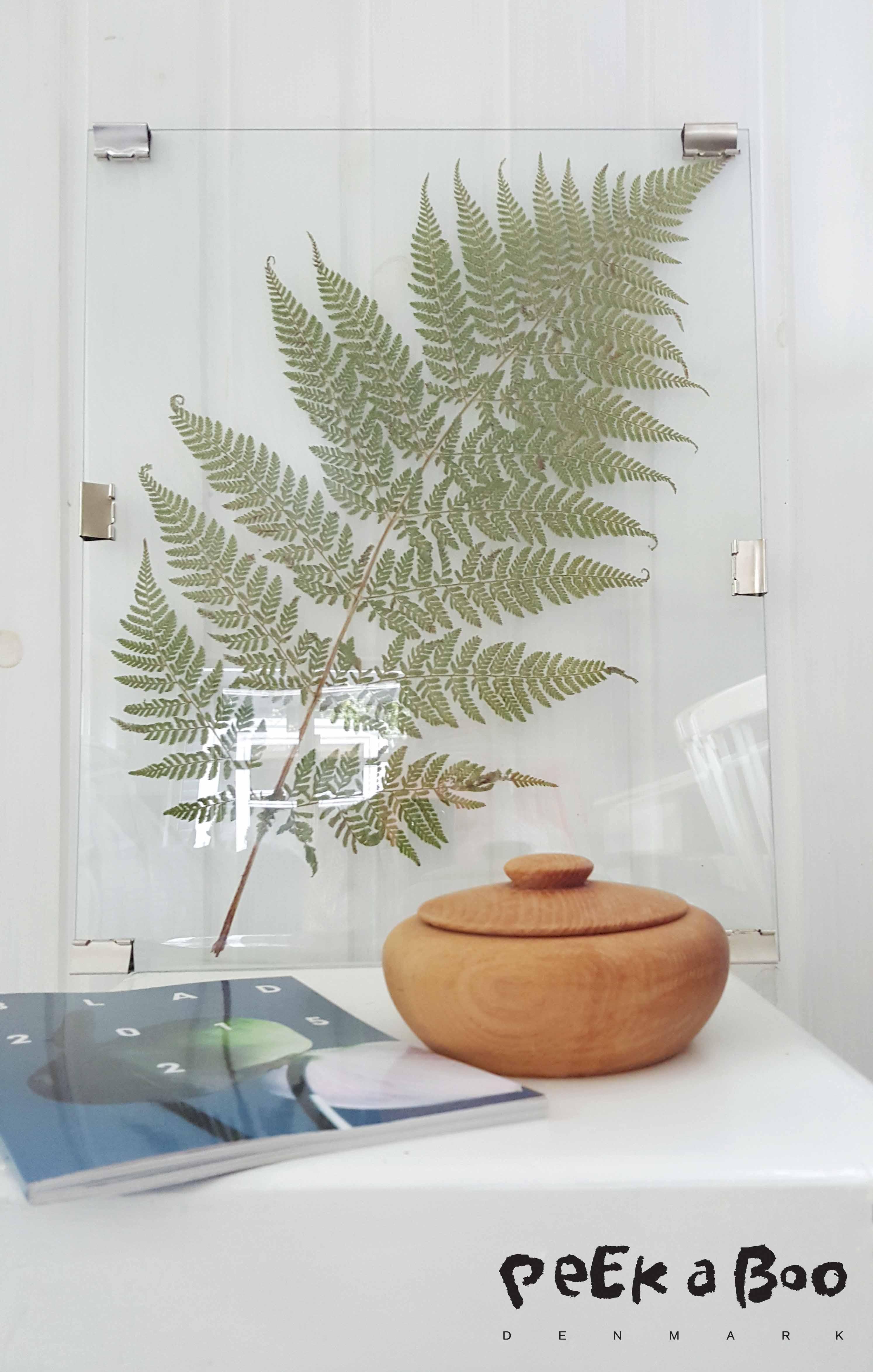 Transperant DIY frame with botanic elements.