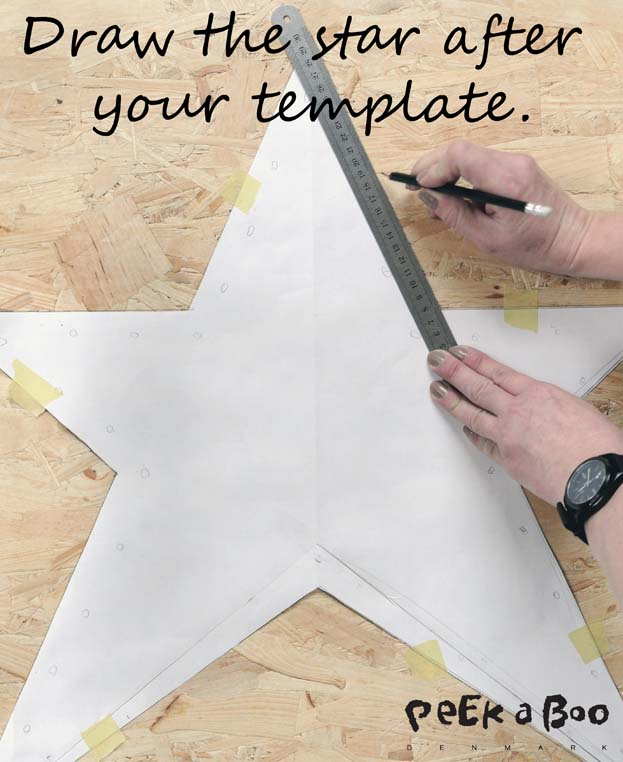 Draw the star after your template.